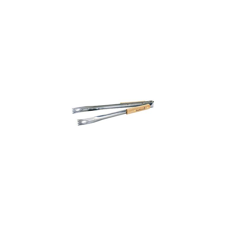 Pince simple en bois et acier inoxydable pour barbecue de 40 cm 260297