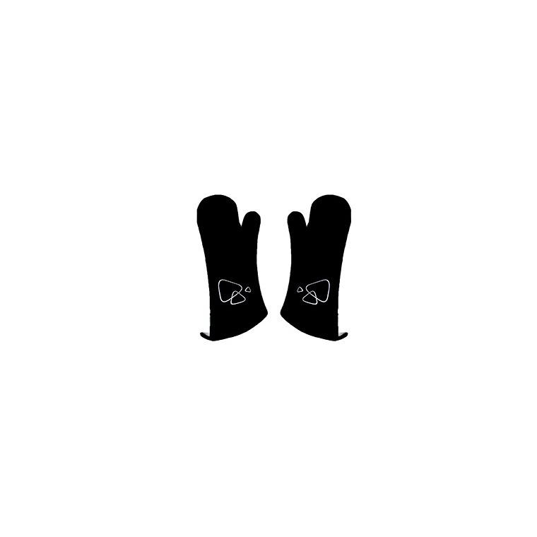 Paire de gants noirs longs pour barbecue de 40 cm 260302