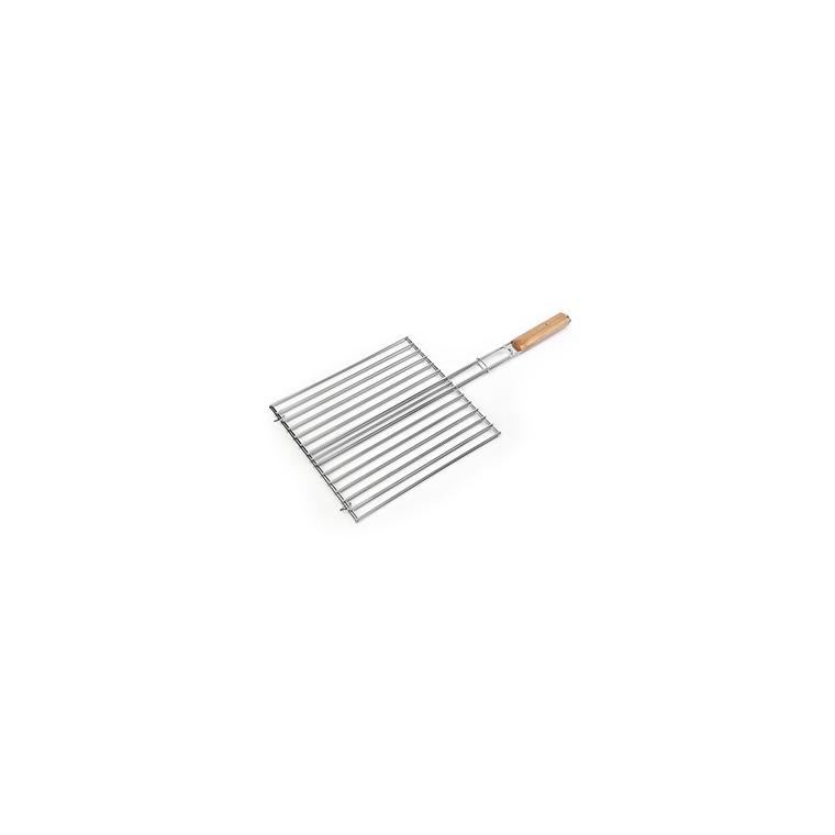 Grille double rectangulaire pour barbecue de 31 x 25 cm 260313