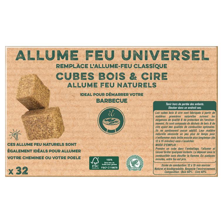 Cubes en bois et cire 100% naturels x32
