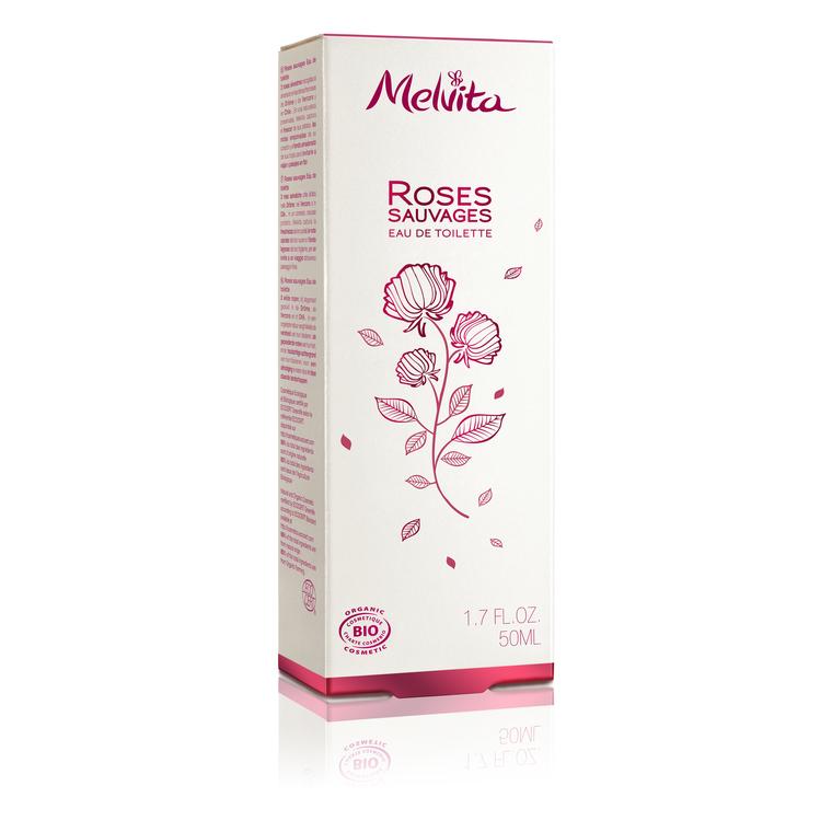 Eau de toilette roses sauvages Melvita 50 ml 260381