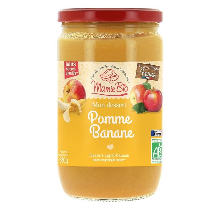 Compote bio pommes bananes sans sucres ajoutés - 680 g 260388