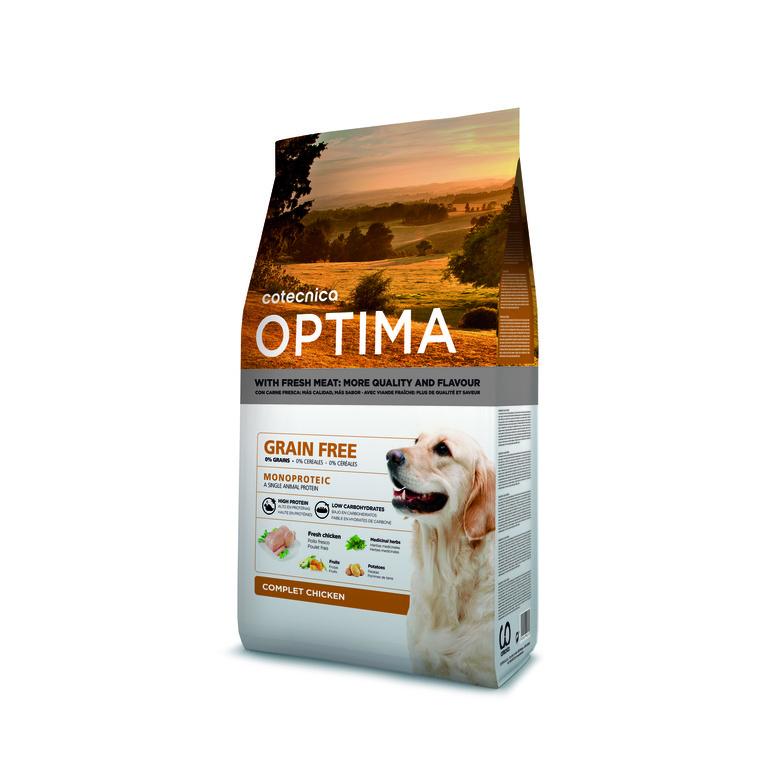 Croquettes Optima grain free poulet pour chien 260458