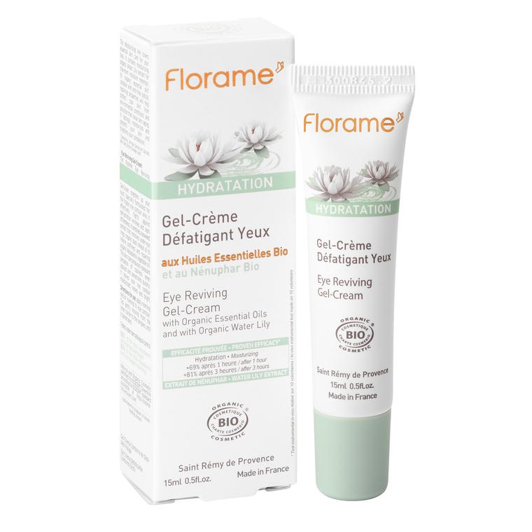Gel-crème pour yeux défatigant bio en tube de 15 ml 260537