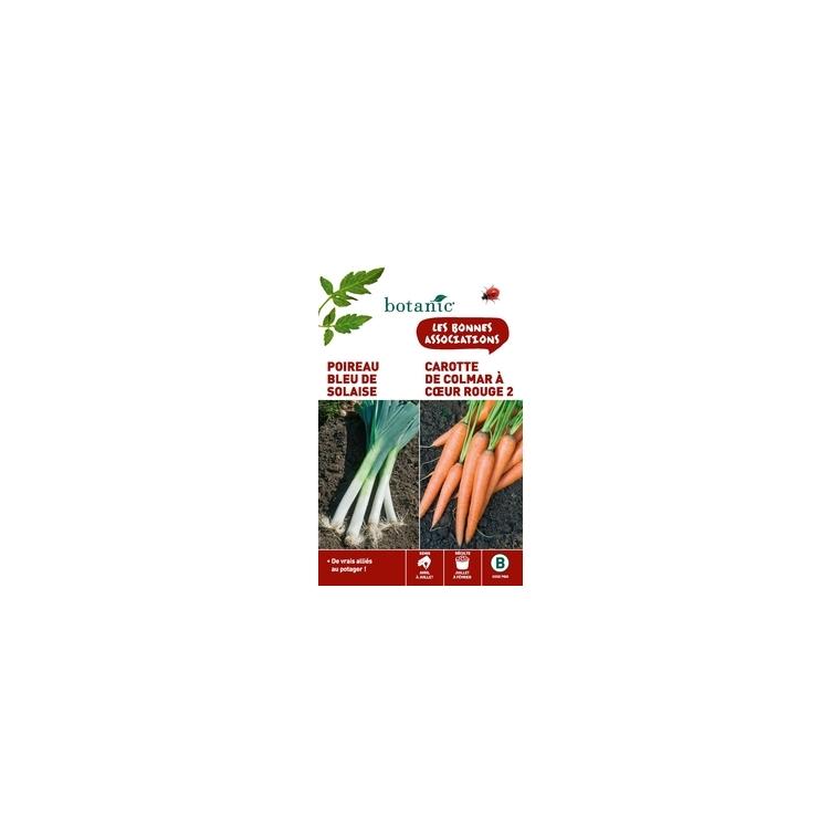 Poireau bleu de solaise + carotte de colmar a cœur rouge 2 Duo compagne 261306