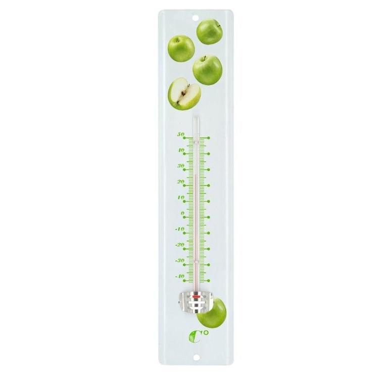 Thermomètre 8026 en tôle peinte 30 cm pommes