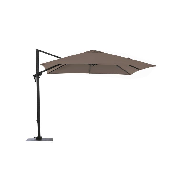 parasol d port manivelle carr 2 5 m taupe parasols et ombrage autres marques nos produits. Black Bedroom Furniture Sets. Home Design Ideas