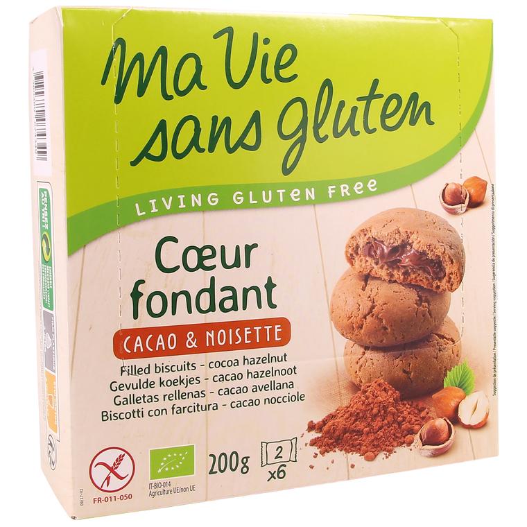 Biscuit au Cœur fondant cacao-noisettes – 200 gr 262771