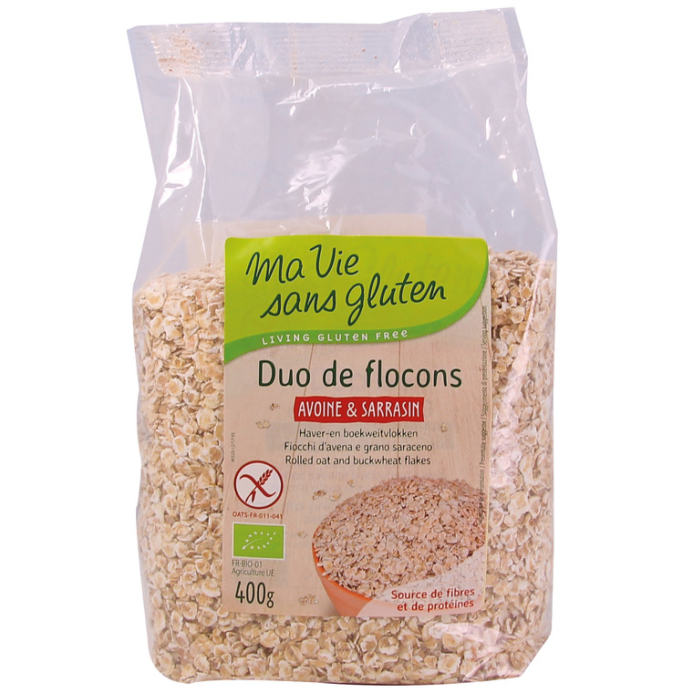 Duo bio de flocons d'Avoine & Sarrasin - 400 gr 262774