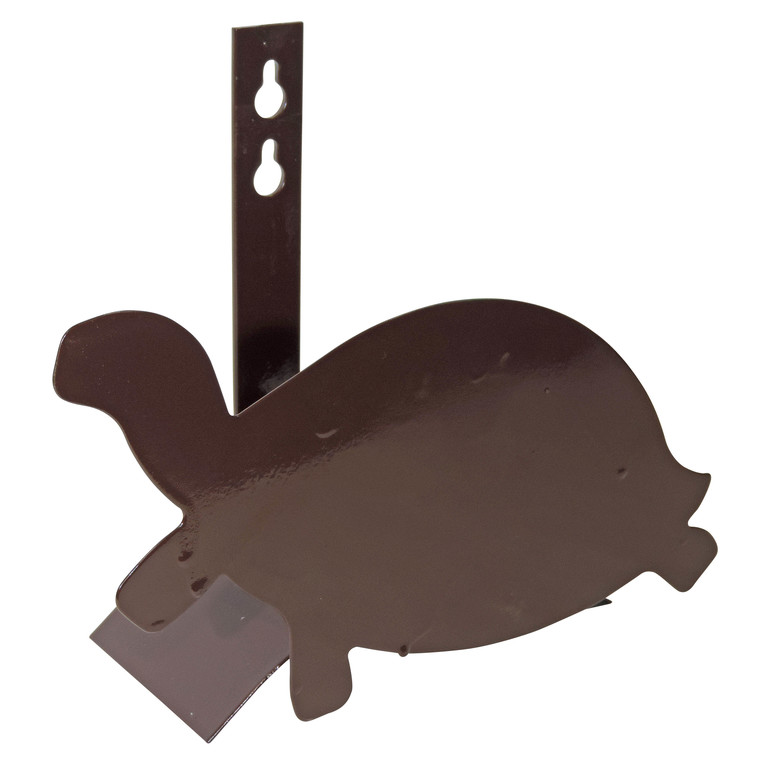 Support tuyau métal mural tortue marron