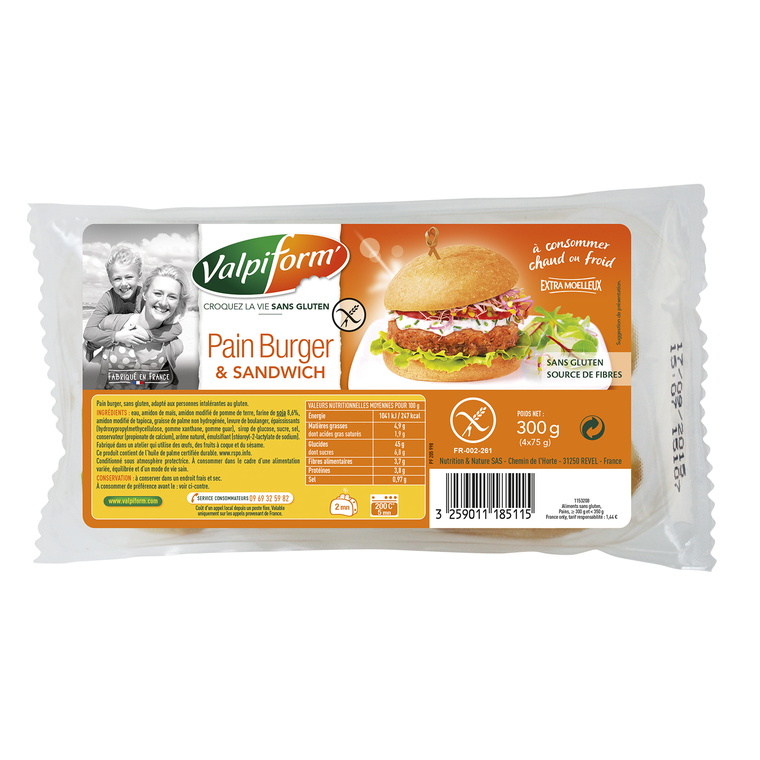 Pain burger et sandwich VALPIFORM 263047