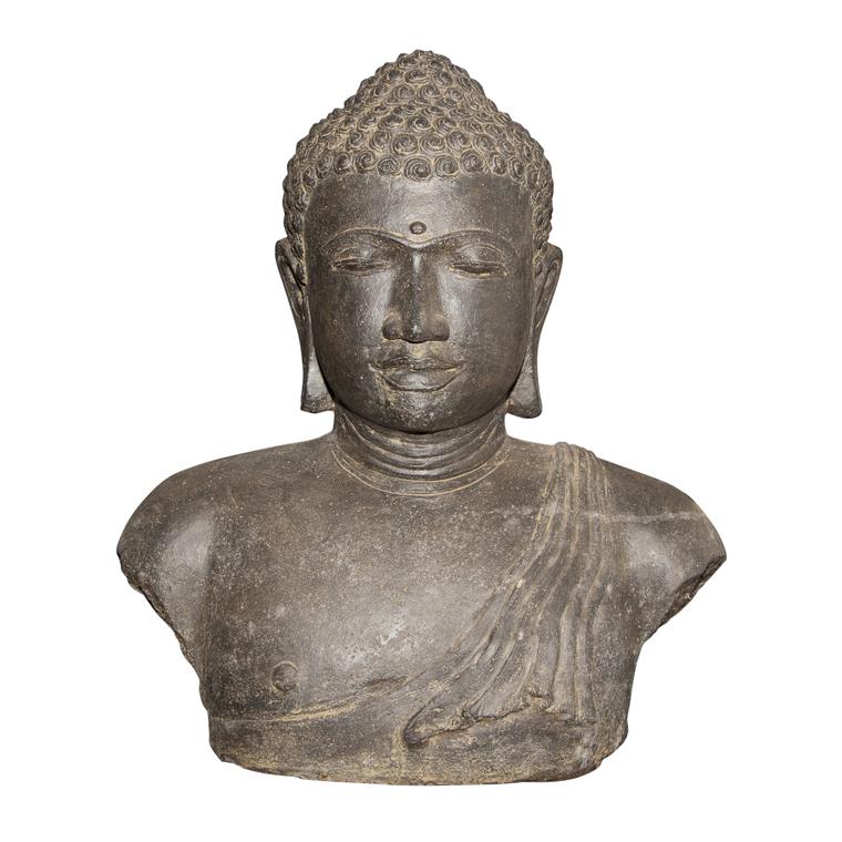 Statue de jardin buste Bouddha H 31 cm 263289