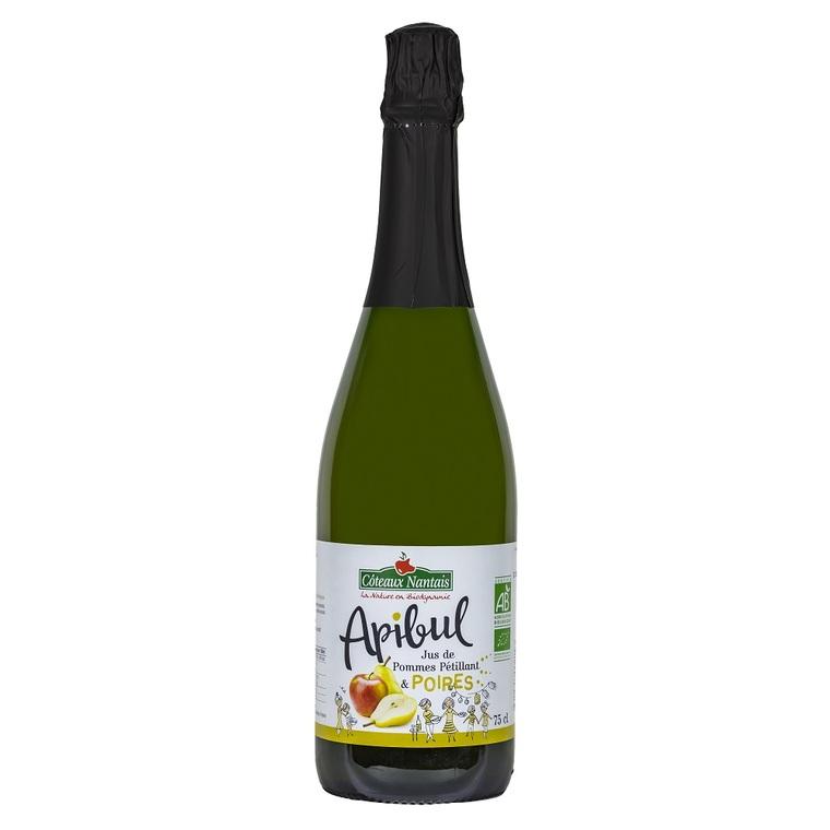 Pétillant sans alcool Apibul pommes poires en bouteille de 75 cl 263478