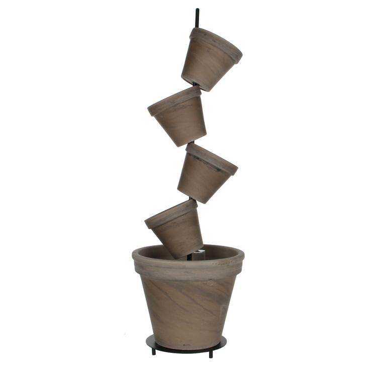 Kit 5 pots DAISY basalt D.23 x H.96 cm 5,1 litres 263588