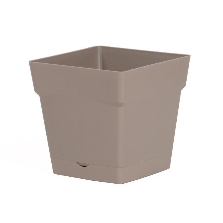 Pot carre Toscane Taupe L17,4 x l17,4 x H17 263648