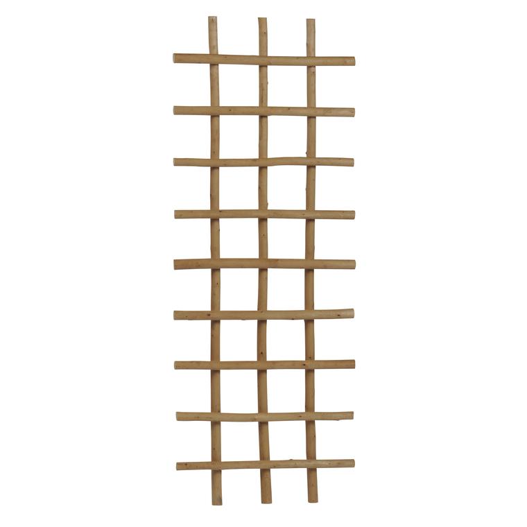 Treillis en osier épais pelé rectangle 120x45 cm 263942