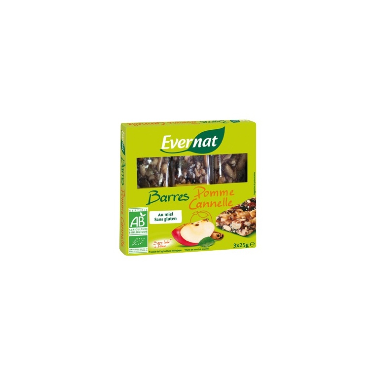 Barre pomme cannelle 3 x 25 g 264199