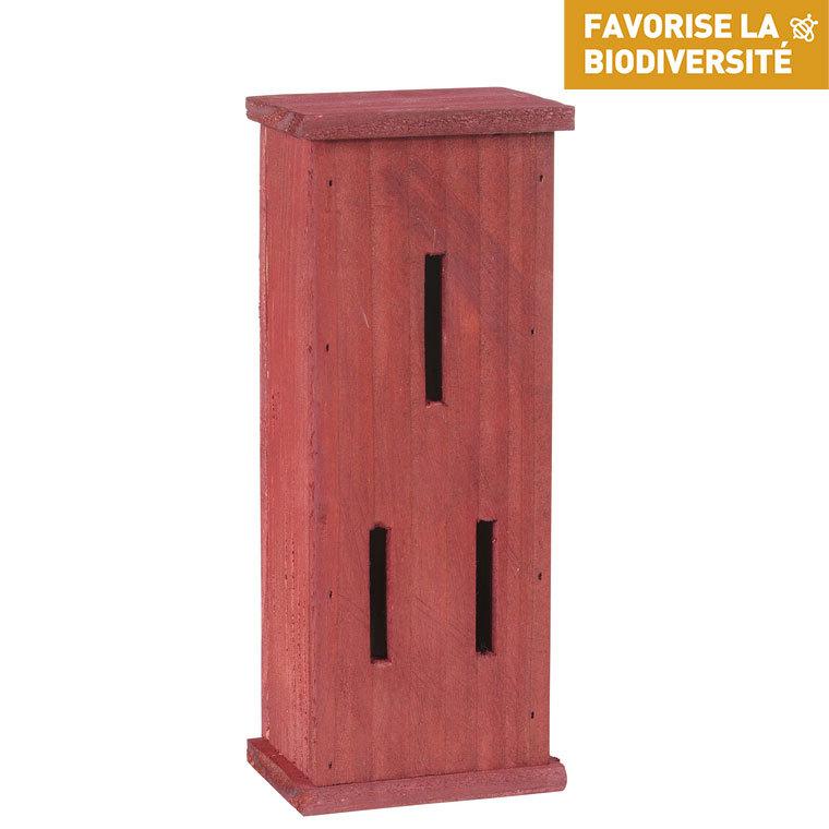 Abri à papillons en bois coloris rouge 264365