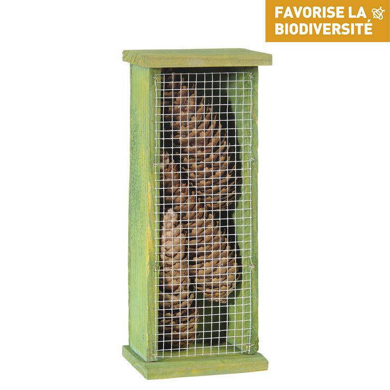 Abri pour chrysopes en bois coloris vert 264370