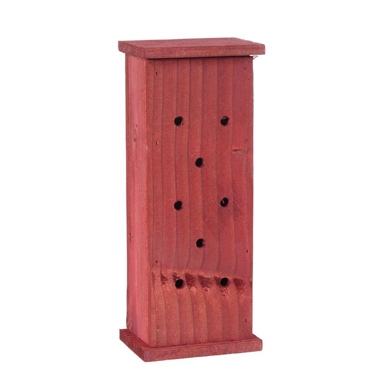 Abri à coccinelles en bois coloris rouge 264377