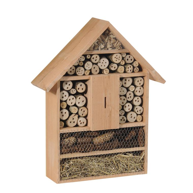 Abri à insectes format moyen en bois coloris naturel 264381