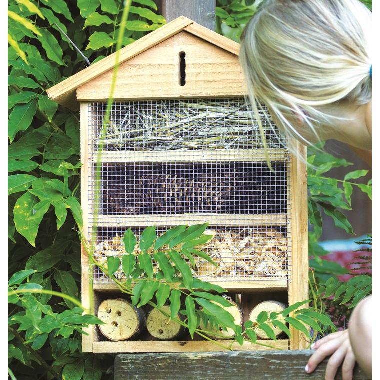 Abri à insectes Grand format coloris bois 264382