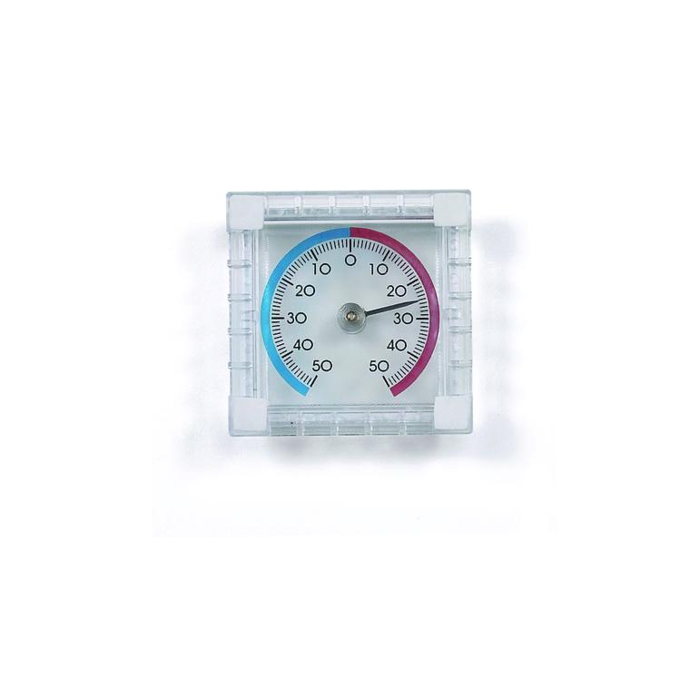 Thermomètre en plastique pour fenêtre de 7,5 cm 274584