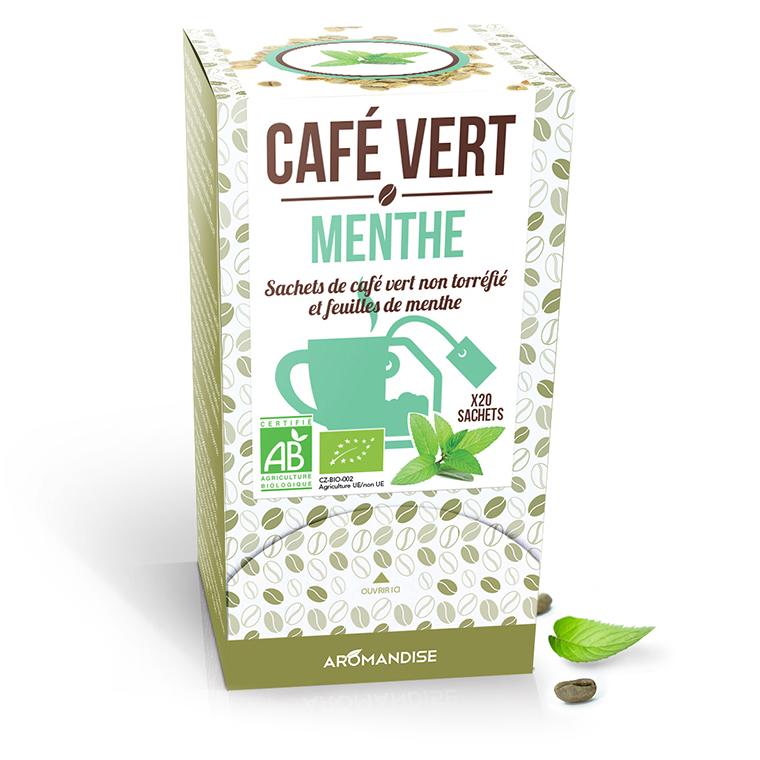 Café vert à la menthe bio en boite de 120 g 276368