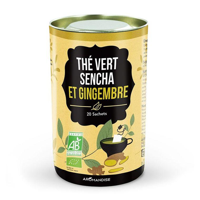 Duo thé vert et fleurs sencha au gingembre bio en boite de 40 g 276369