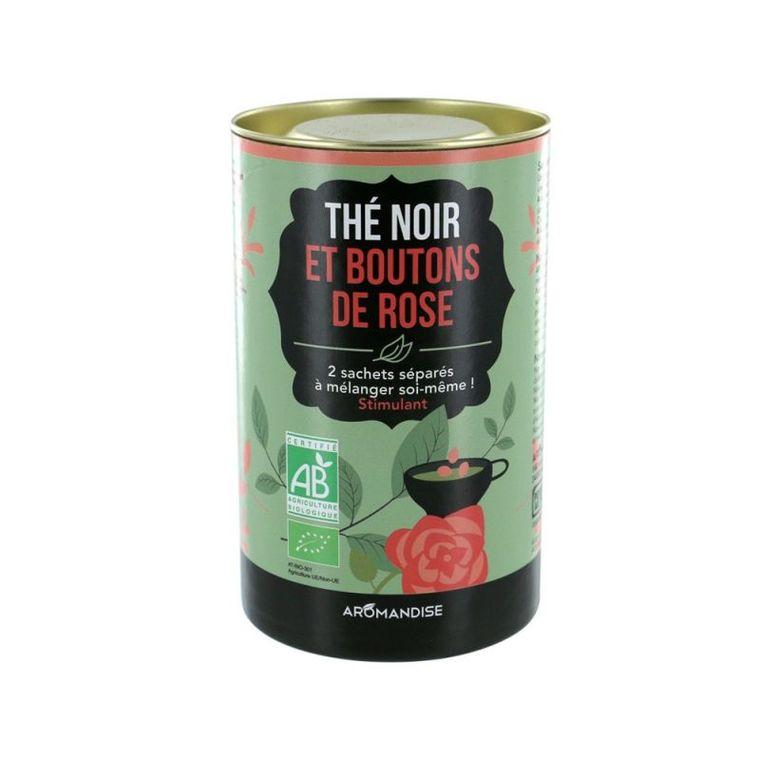 Duo thé noir et fleurs darjeeling rose bio en boite de 52 g 276370