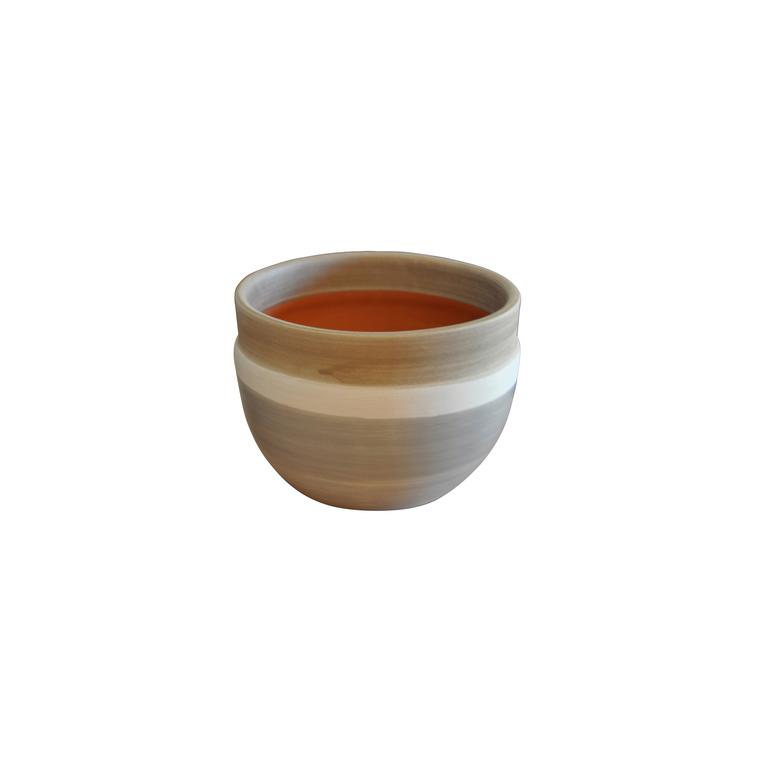 Pot Austral esprit délicatesse en terre cuite émaillée H 16 x Ø 20 cm 276786