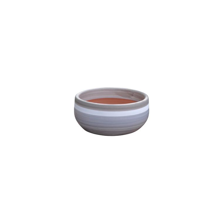 Coupe l'Escale esprit délicatesse en terre cuite émaillée H 10 x Ø 21 cm 276793