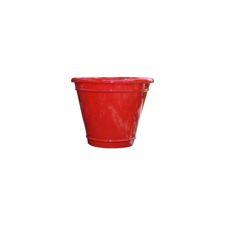 pot Cuvier coquelicot en terre cuite émaillée H 37 x Ø 45 cm 276823