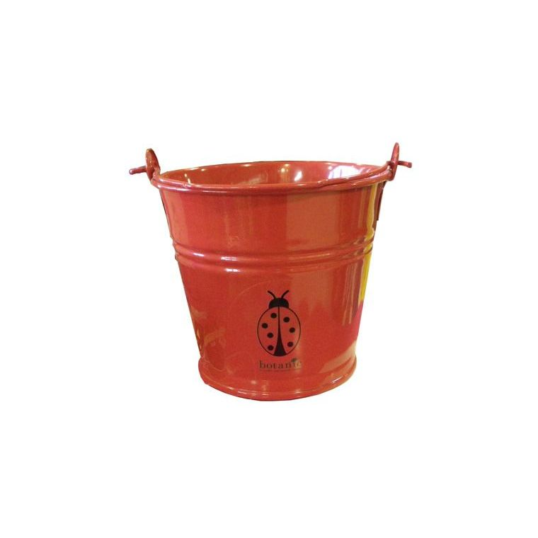 Seau métal pour enfant rouge 277016