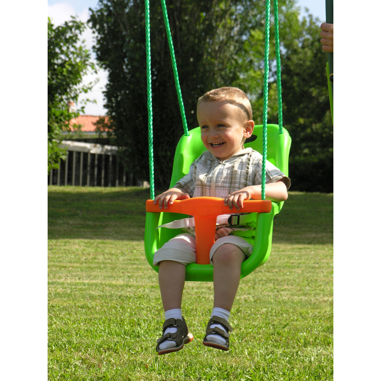 Siège bébé pour portique vert clair
