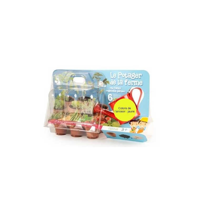 """Coffret jardinage enfant """"Le potager de la ferme"""" jaune 277075"""
