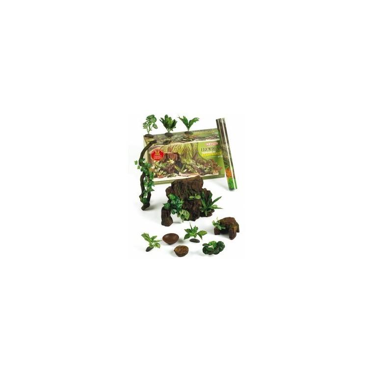 Kit démarrage décoration tropicale pour terrarium 12 décors