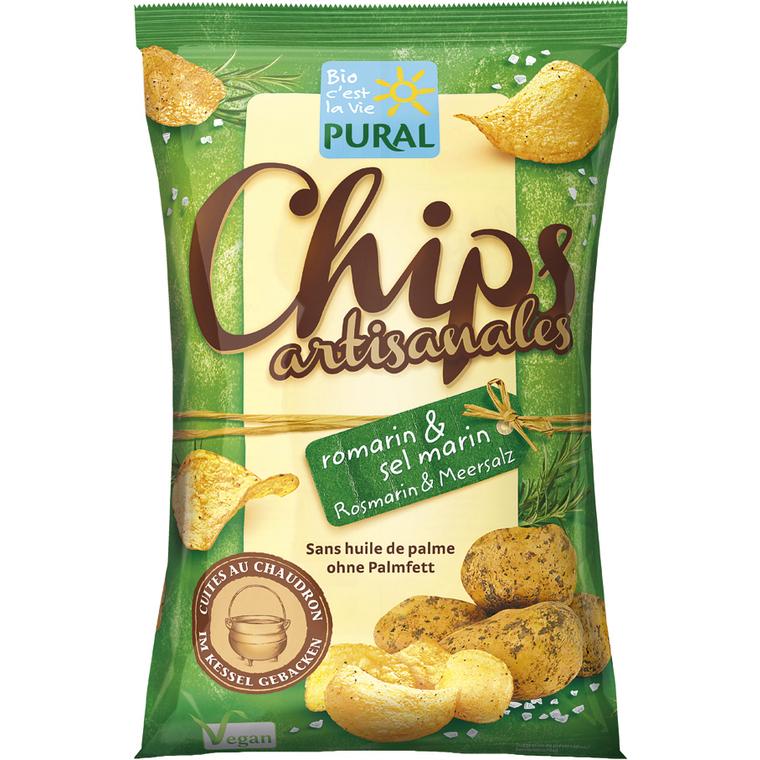 Chips artisanales au romarin et sel marin – 120 gr
