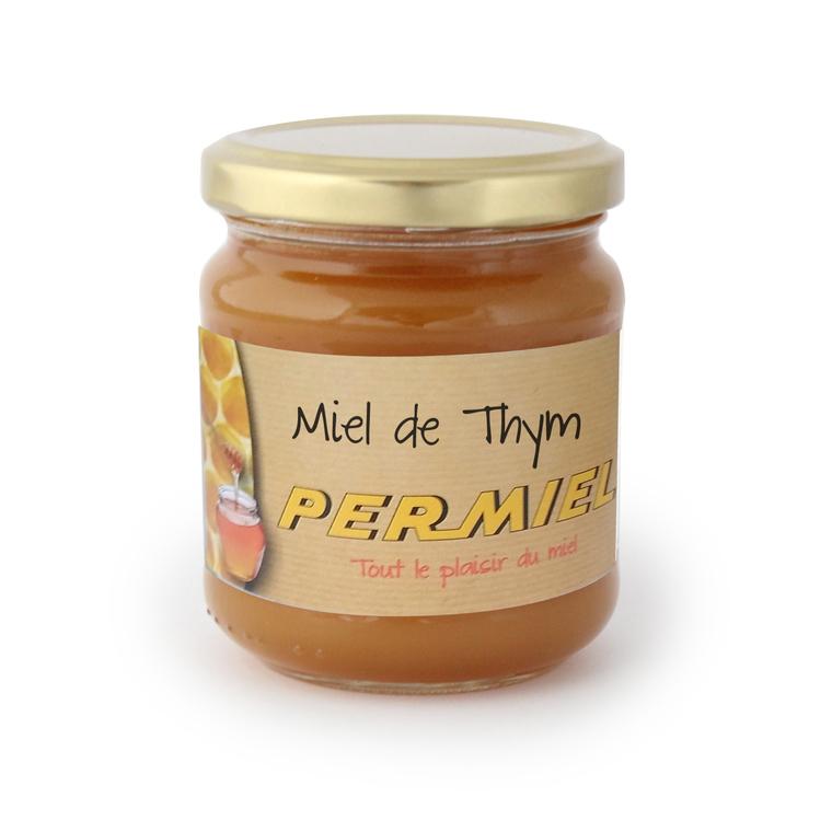 Miel de thym conventionnel bio dans pot en verre de 250 g 278588