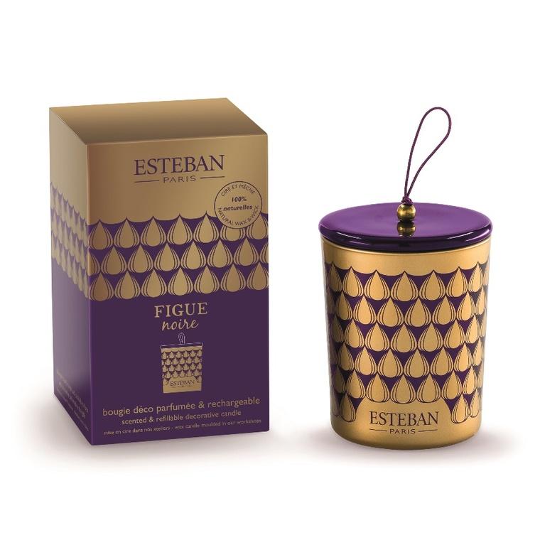 Bougie parfum Rechargeable figue noire ESTEBAN 170 gr 278944
