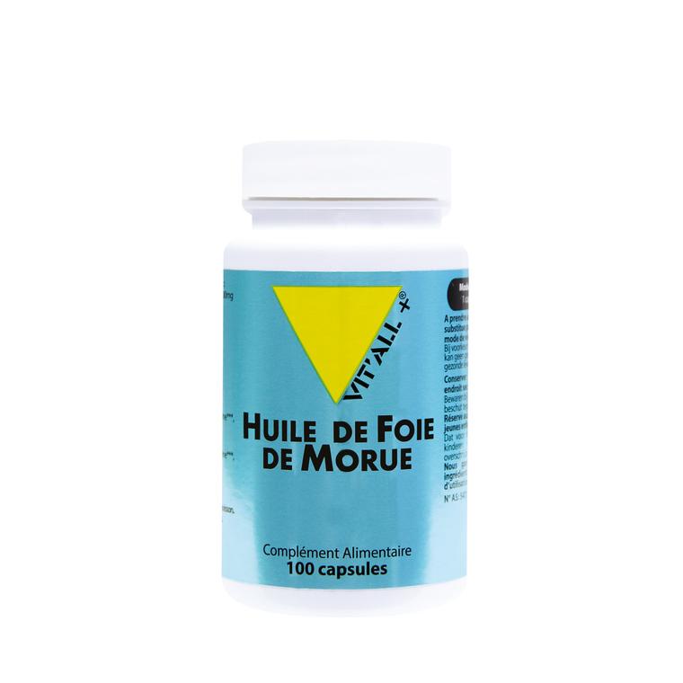 Huile de foie de morue vit'all + en format de 100 capsules 279690