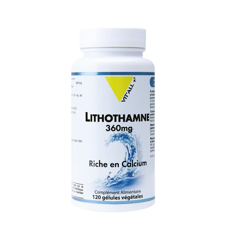 Lithothamne 360 mg vit'all + en format de 120 gélules 279692