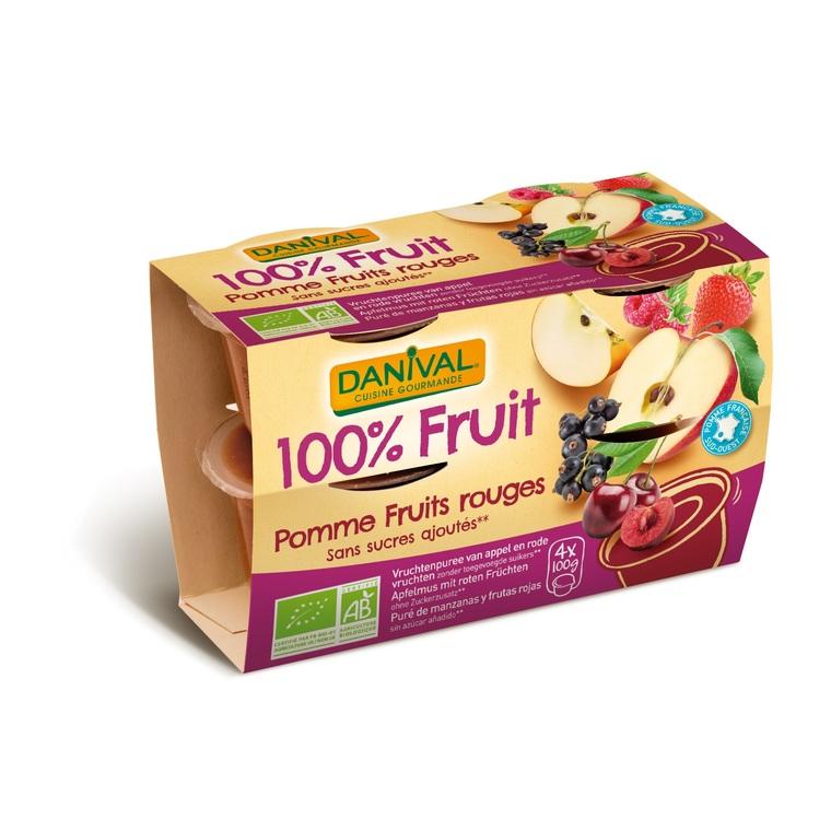 Dessert de fruits bio 4 fruits rouges - 400 gr 279851