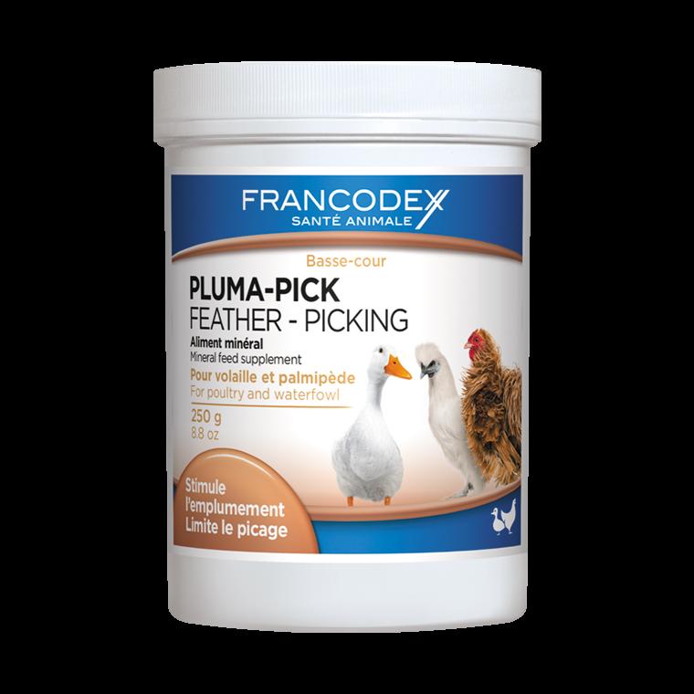 Complément alimentaire Pluma-pick pour volaille en pot de 250 g