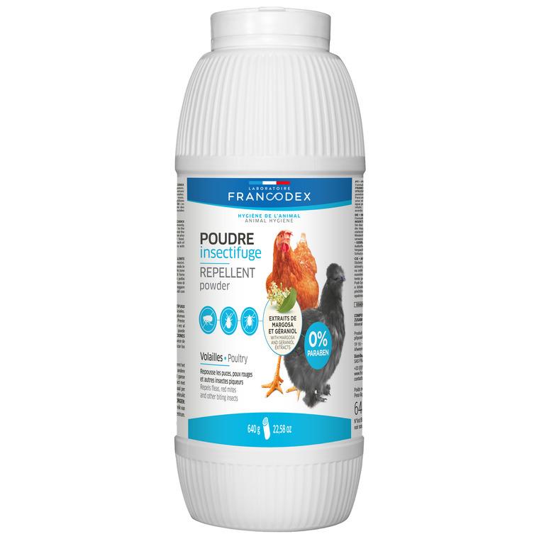 Poudre insectifuge pour volaille en boite blanche de 640 g 280266