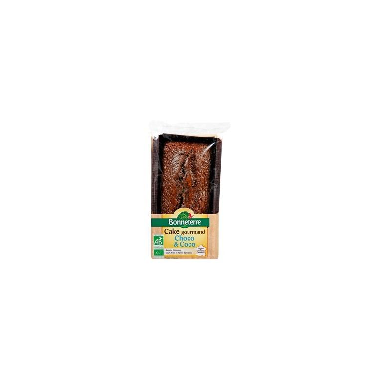 Cake au chocolat et à la noix de coco Bonneterre bio 250 g 280544