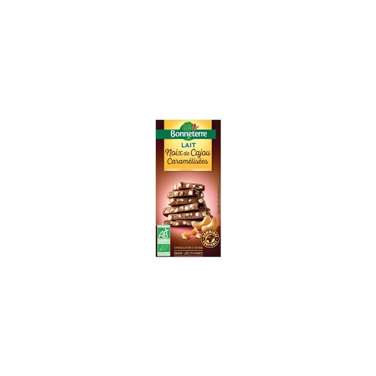 Chocolat au lait noix de cajou caramelisees 85 g 280549