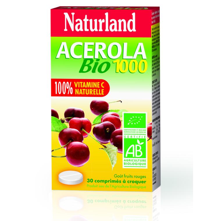 Acérola Bio Naturland 30 comprimés 280597