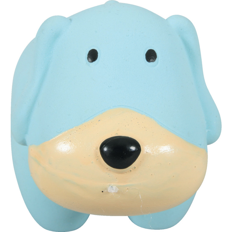 Jouet en latex chien bleu dimension 11x6x6 cm 280700