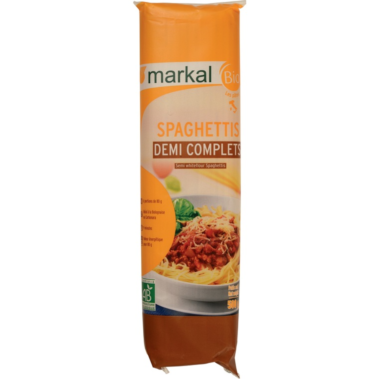 Spaghettis demi complets - 500 gr 281042